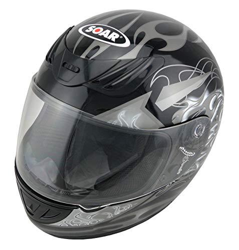 Soar Motorradhelm Rookie Silver, Größe M (57-58 cm) - die Marke für Kenner - Rundumschutz mit stylischem Design