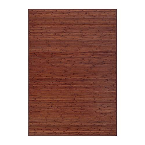 Alfombra de salón o Comedor Industrial marrón de bambú de 140 x...