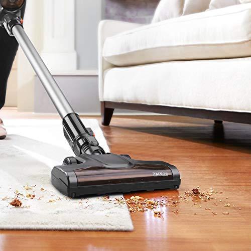 Aspirapolvere senza fili, TACKLIFE VCST01A Aspirapolvere potente aspirazione, funzione 2-in-1 e batteria da 2200mAh con accessori, 1,35 kg per pulire la casa, un hotel o un centro commerciale ecc