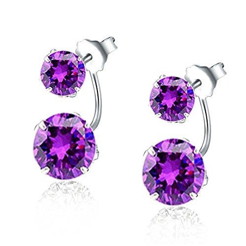findout-sterling-silver-double-diamond-amethyst-two-kinds-of-ways-to-wear-earrings-f1515-size-7-mm-5