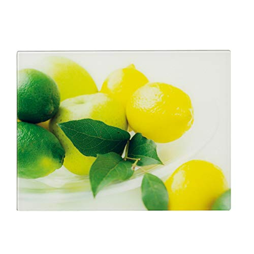 Zeller 26266 - Tabla cortar cristal diseño limones