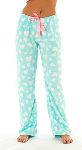 Design Lounge-hose (i-Smalls Frauen Snuggly Warm Fleece Pyjama Hose (40-42) Herz Design)