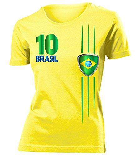 FUSSBALL WM 2014 - BRASILIEN FANSHIRT 3212(F-G) Gr. M