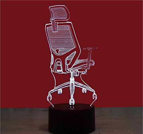 Stuhl 7 Farbe 3D Nachtlicht Usb-Schnittstelle Kreative Visuelle Licht Touch Kunst Licht Für Kinder Geschenk Dekoration Lampe