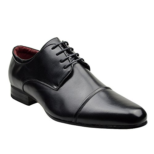 Mens Black Formal Leather Shoes NEWLY LISTED (Limited Size Ratio) UK SIZE...