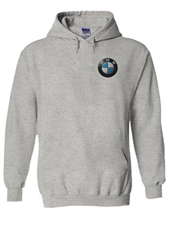 BMW Logo M Power/Tech Pocket Print Novelty Grey Men Women Unisex Hooded Sweatshirt Hoodie-L (Womans Bmw Bekleidung)