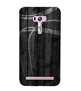 For Asus Zenfone Selfie ZD551KL grey wood, white design, wood, grey wood board, pattern Designer Printed High Quality Smooth Matte Protective Mobile Case Back Pouch Cover by APEX ELEGANT