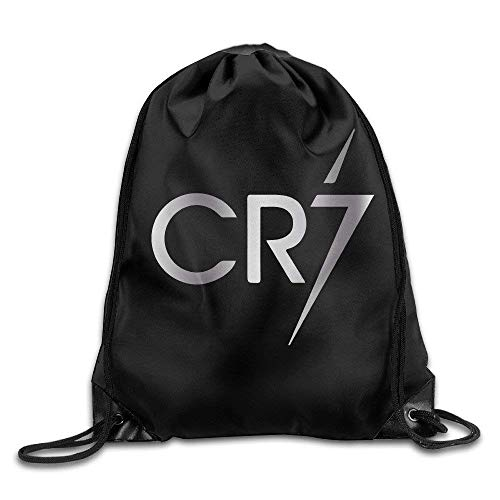SaiBaing Outdoor Cristiano Ronaldo CR7 Logo Platinum Style Drawstring Backpack