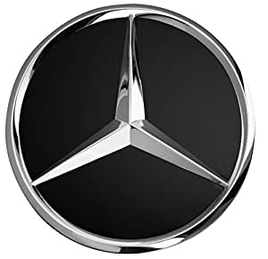 Hub cap mercedes benz set of 4 black auto for Mercedes benz hat amazon