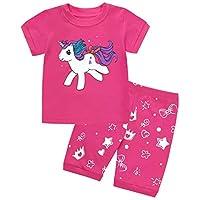 Tarkis Girls Pyjamas Set Novely Cartoon Nightwear Sleepwear Pjs Short Outfit Ages 2 to 7 Years