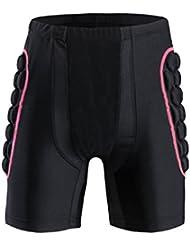 Shinmax Gepolsterte Kompressions-Kurzschlüsse, Männer Schützend Gepolsterte Kurzschlüsse Kompressions-Hosen für Fußball-Basketball-Paintball-Skifahren-Skifahren Ski-Rochen-Rollen Aufgefüllte Hosen