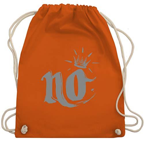 Statement Shirts - Nö Krone - Unisize - Orange - WM110 - Turnbeutel & Gym Bag