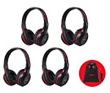 4 Pack of Vehicle Headphones, Support Car DVD Player, Car Headphones for Rear