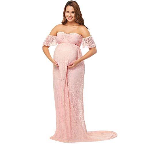 Laisla fashion Vestito da Gravidanza Elegante da Donna Servizio Classiche  Fotografico Abiti Premaman Abito Senza Spalline d85c9e38340