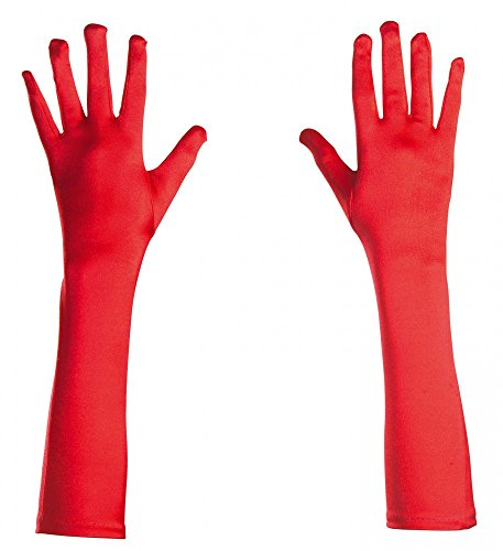 less is more Elegante Satin-Abendhandschuhe lang glänzend Damen-Handschuhe Kostümzubehör Karneval Oper Cabaret Show Girl Flapper, ()