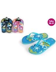 Aquapro Chaussures Plage Motif Flowers Bleu