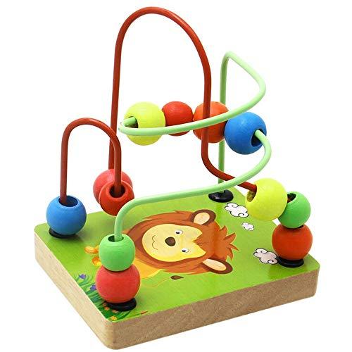 Oasics Holz Kinder Perlen Obst Perlen Puzzle Puzzle Kinder pädagogische Spielzeug Bildung Kreis Kinder Spielzeug Jungen und Mädchen (Grün) - Holz-puzzle Kreis