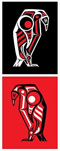 Strisce bianche Penguin stampa artistica 2010rosso & nero 2poster set Limited Edition seta serigrafia musica poster di Rob Jones originale firmato e numerato immagine: bianco Stripes