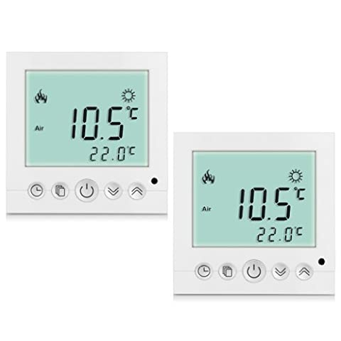 High Quality BYC16.H3 16A White Backlight LCD Display Thermostat Temperature Controller Indicator (2pc in
