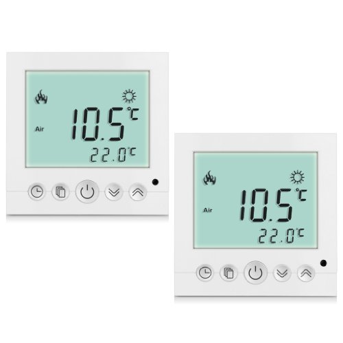 preisvergleich 2 x excelvan raumthermostat thermostat. Black Bedroom Furniture Sets. Home Design Ideas