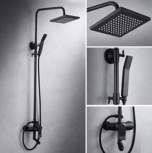 JIE Dusch-Sets mit Regen-Fall Duschkopf und Hand-Set Bad-Accessoires Luxus-Regen-Dusch-Systeme Badezimmer Luxus-Regen-Mixer Dusche Combo Set Einfach zu reinigen und zu installieren