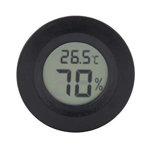 idalinya Termometro A Cristalli Liquidi per Rettili, Mini Igrometro Digitale A Cristalli Liquidi per Misuratore di umidità di Forma Rotonda per Rettili(Balck)