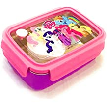 Glorygifts Little Pony Theme Air Tight Lunch Box With Spoon And Fork For School Kids And Others
