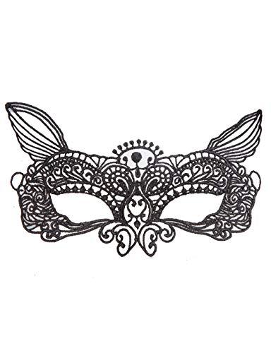 Halloween Maske Frauen Schwarze Spitze Maske Augenmaske Party Kopf Maske Für Halloween Kostüm (größe : Elf) (Elf Halloween Kostüm Böse)