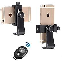Soporte para Teléfono Móvil Trípode+Control Remoto inalámbrico Clip Universal del Soporte del Adaptador del