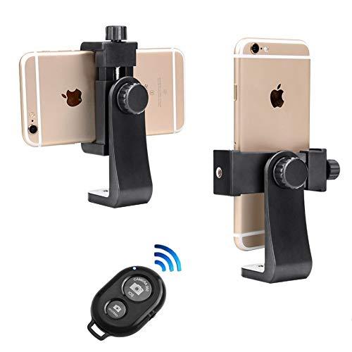 Soporte para Teléfono Móvil Trípode+Control Remoto inalámbrico Clip Universal del Soporte del Adaptador del trípode del teléfono Inteligente para el iPhone X 8 7 6 más Samsung