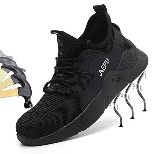 SROTER Camuffare Scarpe Antinfortunistiche Uomo Donna Scarpe da Lavoro Punta Acciaio Leggere Traspiranti Sneaker da Lavoro Scarpe Sportive di Sicurezza