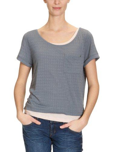 MEXX - Maglietta, collo rotondo, manica corta, donna Blu (Blau (462))