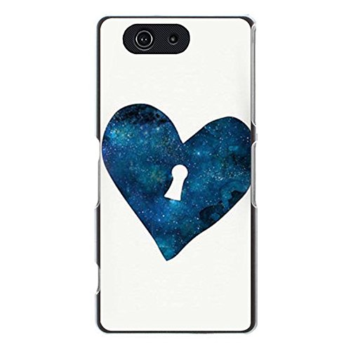 Shell for Sony Xperia Z3 Compact Z3 Mini Love Heart Lock Key Couple Phone Case Back Cover (Para Compact Z3 Xperia Cover Sony)