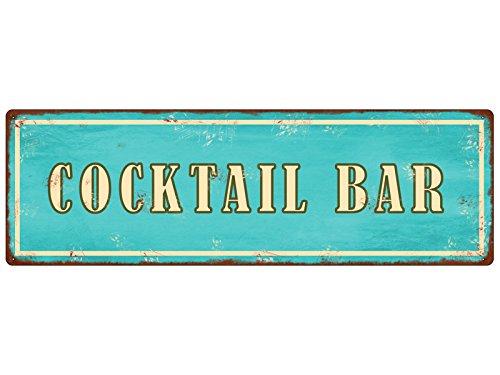 METALLSCHILD Blechschild COCKTAIL BAR Sommer Strand Lounge Shabby Vintage -