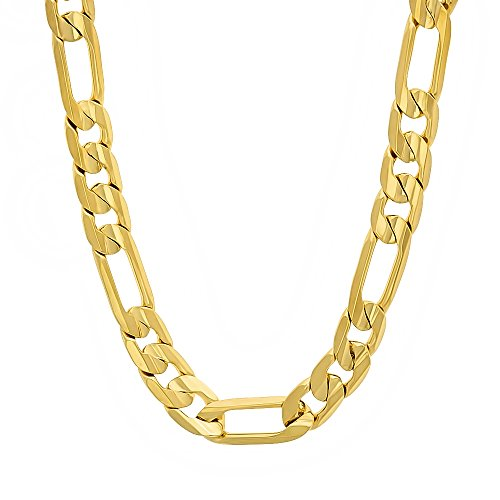 7mm-14k-gold-plated-flat-figaro-link-chain-necklace-61-cm
