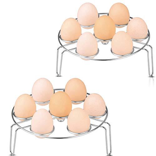 Paniers à oeufs,Aupolo Acier Inoxydable Panier Vapeur Rack d'oeufs Egg Storage Basket Rangement de récipient de plateau d'oeufs (3.1\