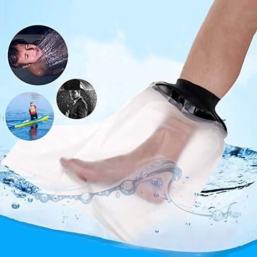 WHYIT Gipsschutz Wasserdicht Bein, Duschüberzug Fuß Beinschutz für das Halbe Bein beim Baden, Wasserdichter Beinprotektor für Gips-und Verbandschutz beim bei Dusche & Bad Erwachsene (Halbes Bein)