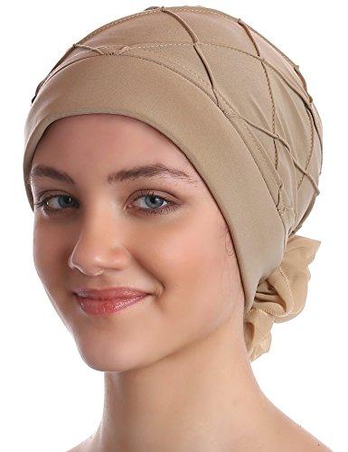 Diamant-Muster Mutze für Haarverlust, Krebs, Chemo (Beige)