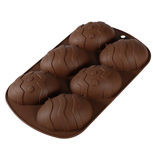 OUNONA stampo in silicone a forma di uova di Pasqua per cioccolatini fai da te, cioccolatini, dolci, decorazione per ghiaccio, resina, articolo per fare