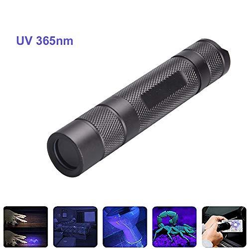 Linterna UV 365nm, BESTSUN Linternas Ultravioleta 5W UV Luz para detección de falsificaciones Verificación...