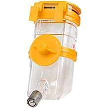 Pandada 350ml perro de mascota gato pájaro bebedor de agua de conejo colgante botella dispensador automático alimentador