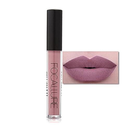 Tonsee Femmes FOCALLURE Sexy Métallique Lip Gloss Fashion Rouge à lèvres