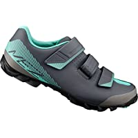Shimano SHME2PG410WL00 - Zapatillas Ciclismo, 41, Negro - Verde, Mujer