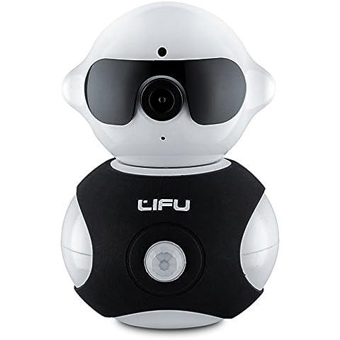 Cámara IP inalámbrica, Lifu Mini Robot Pan Tilt Wifi Cámara micrófono integrado HD con visión nocturna de vigilancia de seguridad para el hogar para mascota, Baby Video Vigilancia