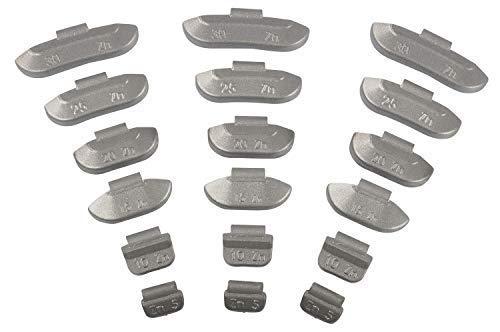 150tlg Schlaggewichte-Stahlfelgen-Set 5-30g I Auswuchtgewichte I Je 25x 5g, 10g, 15g, 20g, 25g 30g I Wuchtgewichte-Sortiment für Stahlfelgen