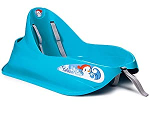 Ondis24 Schlitten Bob für Kleinkinder blau Rodel mit Sicherheitsgurt Rutscher...