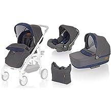 Inglesina AA35G6JNS Trio Trilogy System -  Cochecito de bebé, silla de paseo, silla de coche y bolsa, color Jeans
