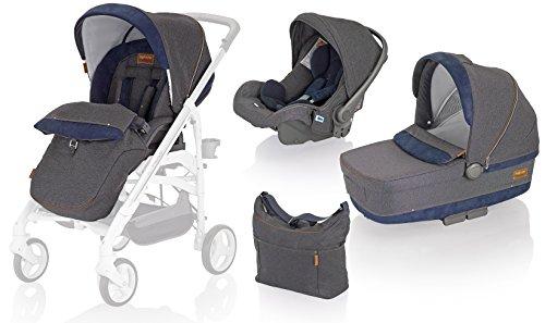 Inglesina AA35G6JNS Trio Trilogy System -  Cochecito de bebé, silla de paseo, silla de coche y bolsa...