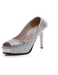 HBDLH Diamond Sandali E I Tacchi 10Cm Tacchi A Banchetto Scarpe Da Donna.Blu 35