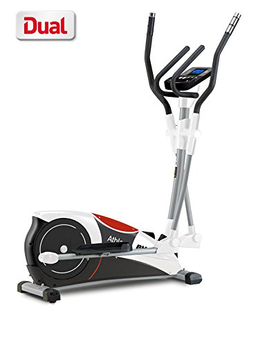 BH Fitness ATHLON DUAL G2336U. Inertial system 22 lbs. Complete workout. Elliptical crosstrainer. Magnetic brake system. Compatible with smartphone or tablet White.